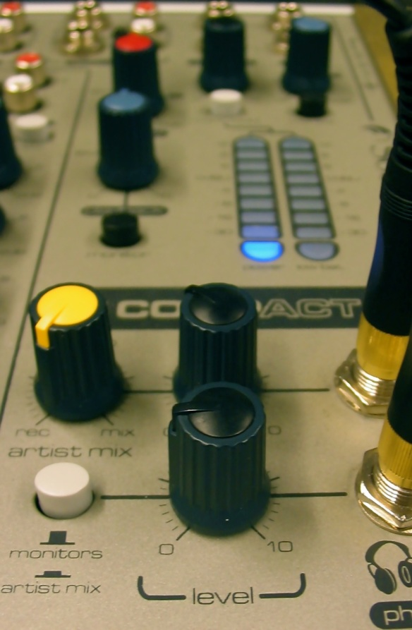 Two separate mixes were created, so that what each tapper heard could be controlled individually.